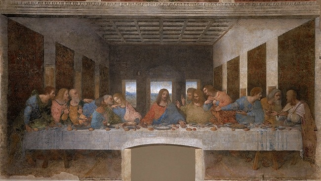 An interesting fact about The Last Supper
